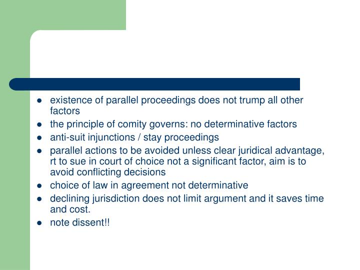 existence of parallel proceedings does not trump all other factors