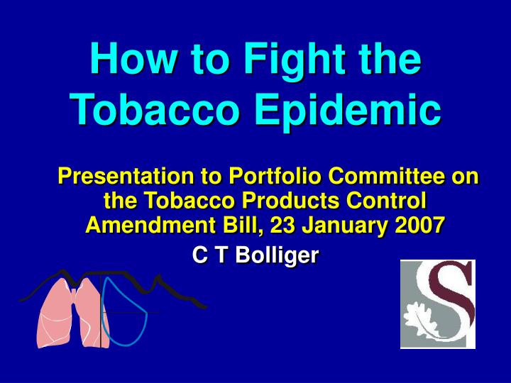 how to fight the tobacco epidemic n.