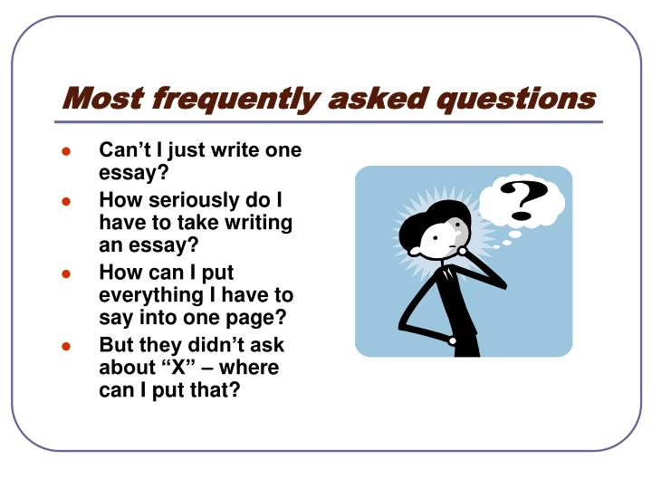 Frequently asked college essay questions