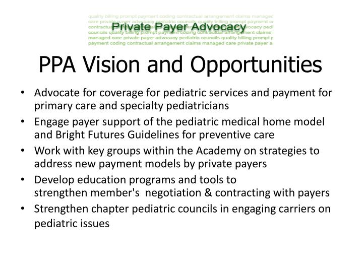 Ppa vision and opportunities
