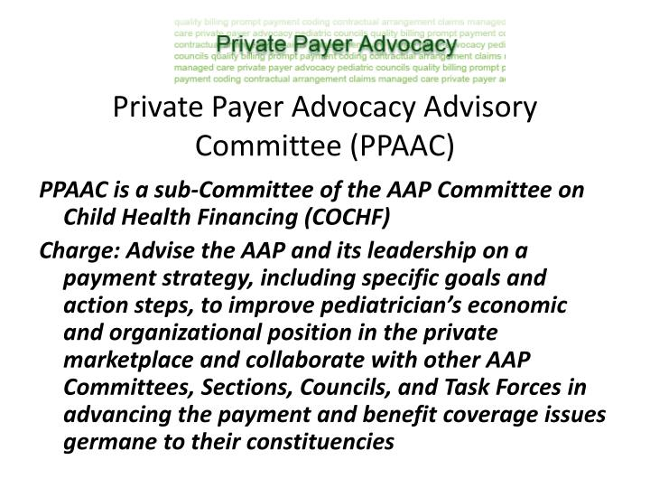 Private Payer Advocacy Advisory Committee (PPAAC)
