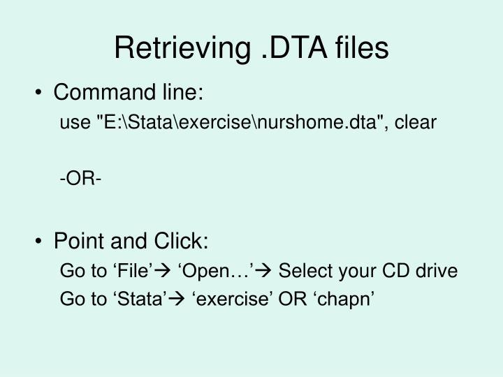 Retrieving .DTA files