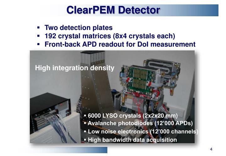 ClearPEM Detector