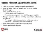 special research opportunities sro