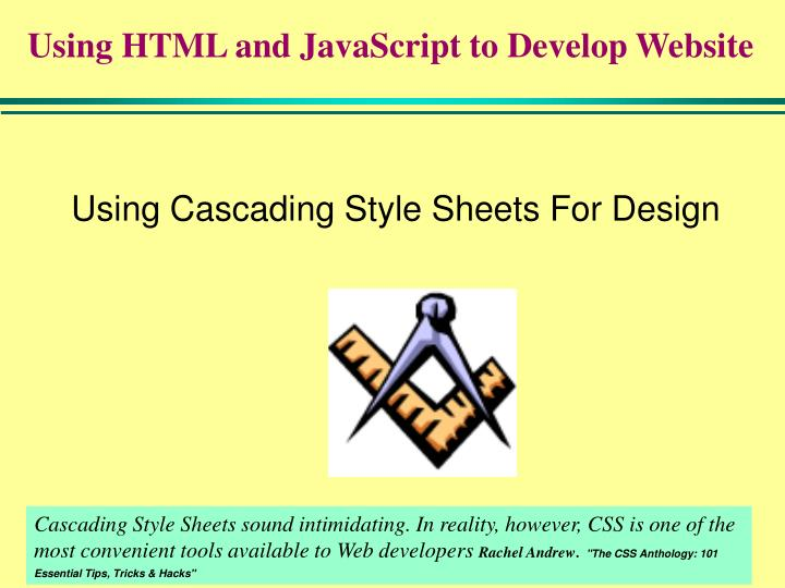 using cascading style sheets for design n.
