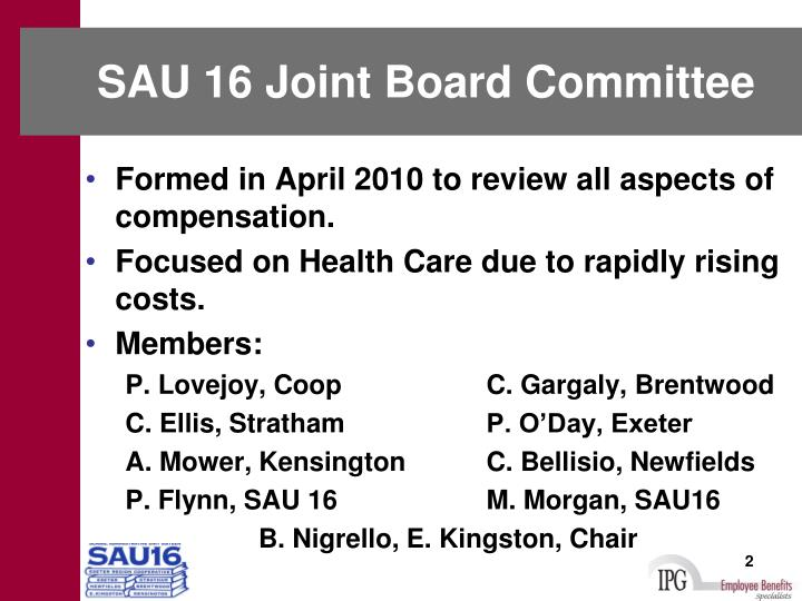 Sau 16 joint board committee