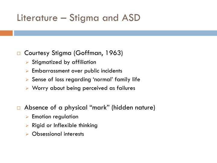 Literature – Stigma and ASD