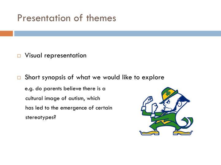 Presentation of themes