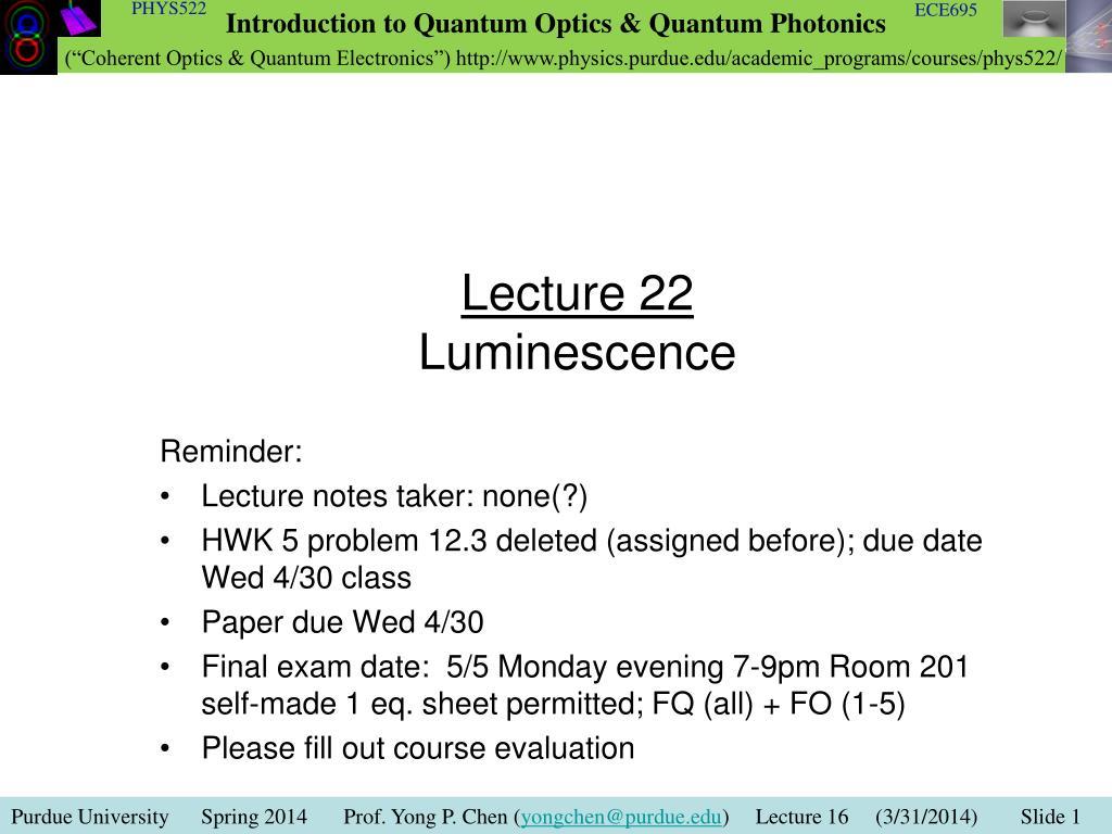 luminiscens dating PowerPoint