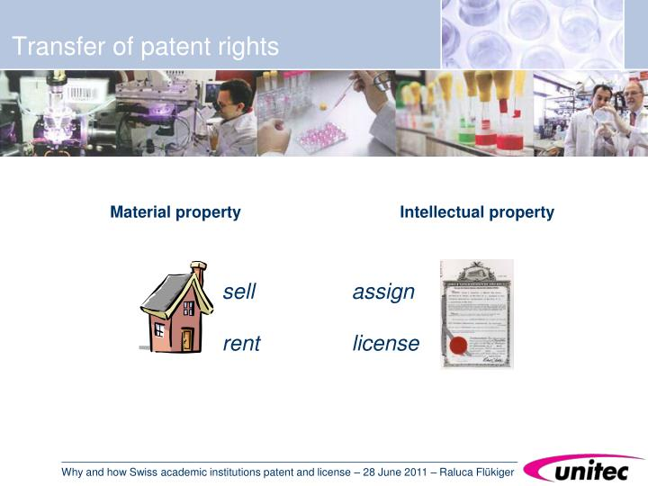 Transfer of patent rights