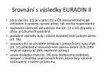 srovn n s v sledky euradin ii