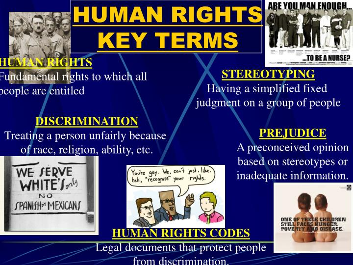Human rights key terms