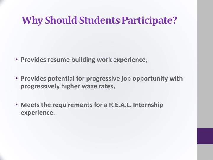 Why Should Students Participate?