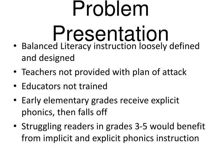 Problem Presentation