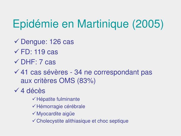 Epidémie en Martinique (2005)
