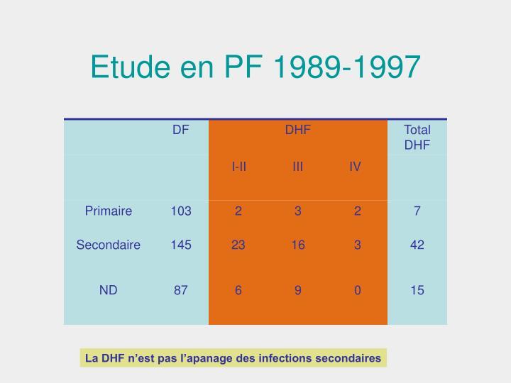 Etude en PF 1989-1997