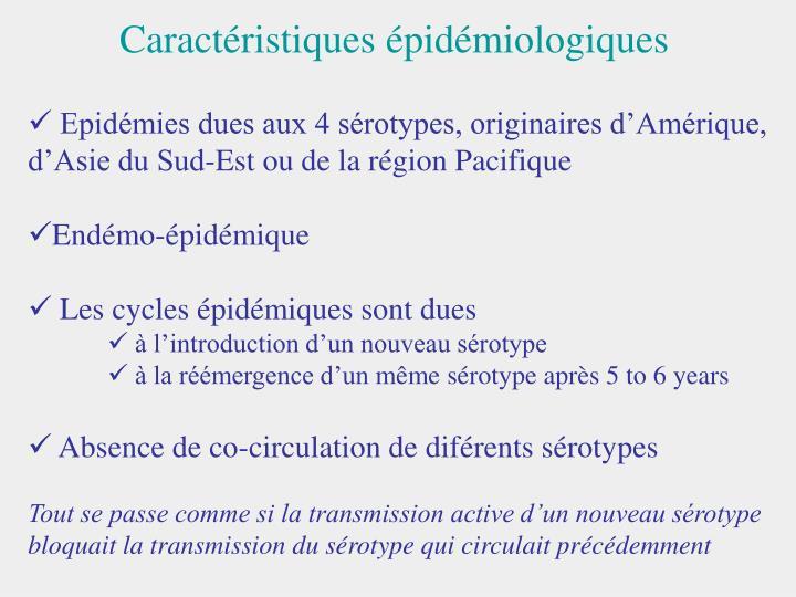 Caractéristiques épidémiologiques