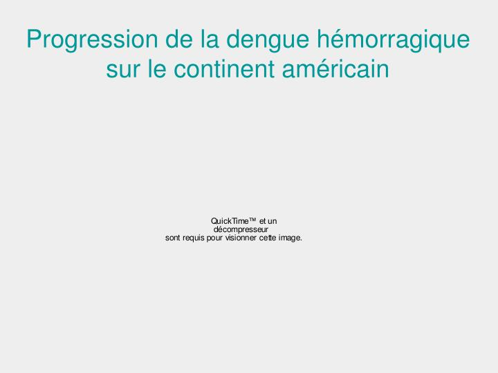 Progression de la dengue hémorragique