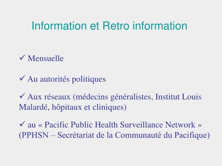 Information et Retro information