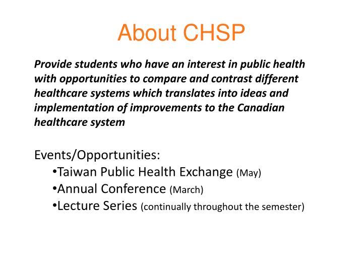 About chsp