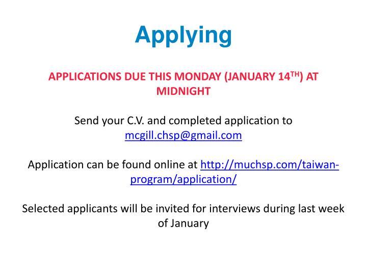 Applying