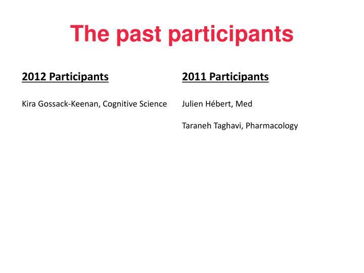The past participants