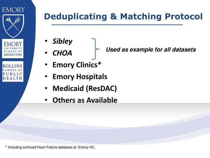 Deduplicating & Matching Protocol