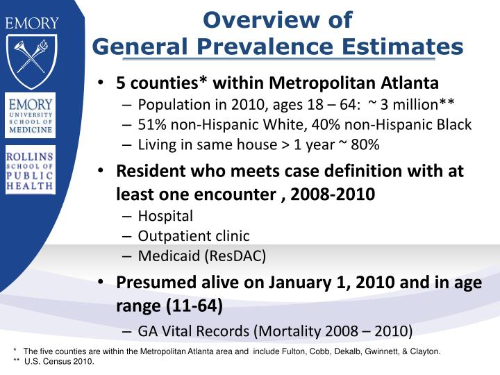 Overview of general prevalence estimates