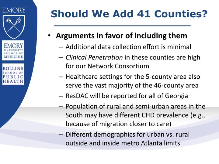 Should We Add 41 Counties?