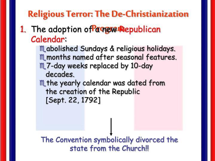 Religious Terror: The De-Christianization Program