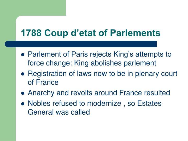 1788 Coup d'etat of Parlements