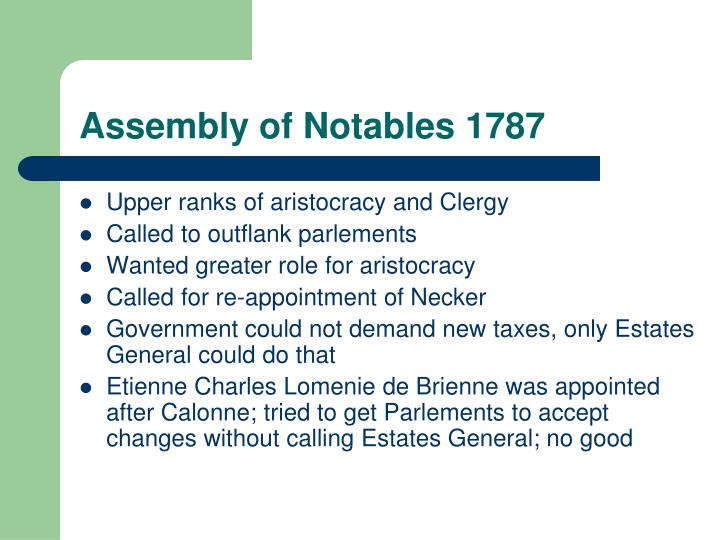 Assembly of Notables 1787