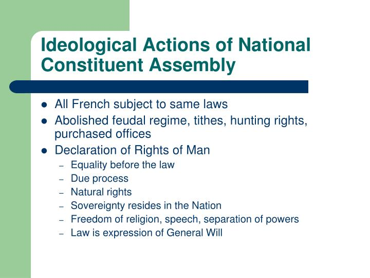 Ideological Actions of National Constituent Assembly