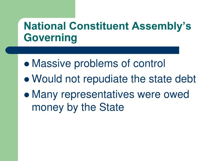 National Constituent Assembly's Governing