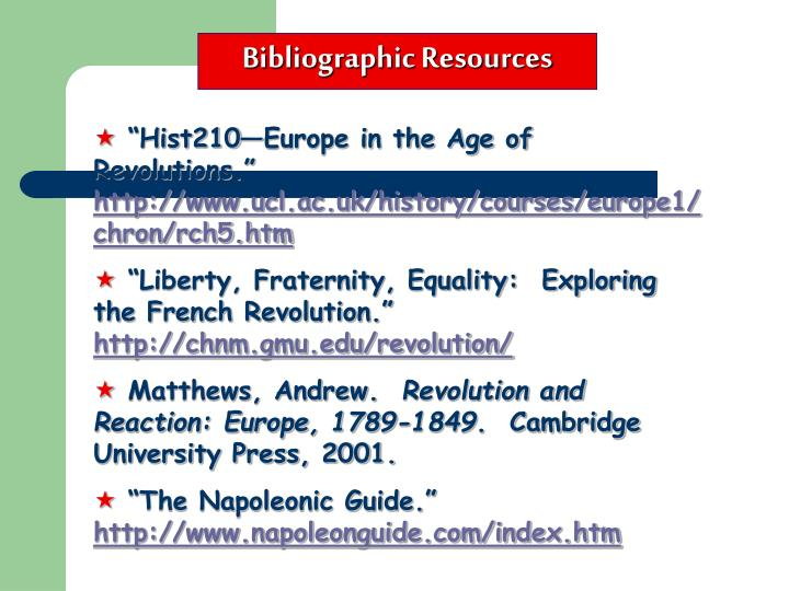 Bibliographic Resources