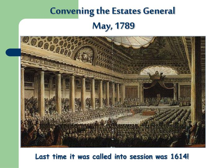 Convening the Estates General