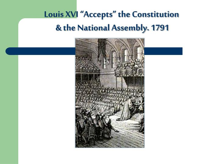 """Louis XVI """"Accepts"""" the Constitution"""