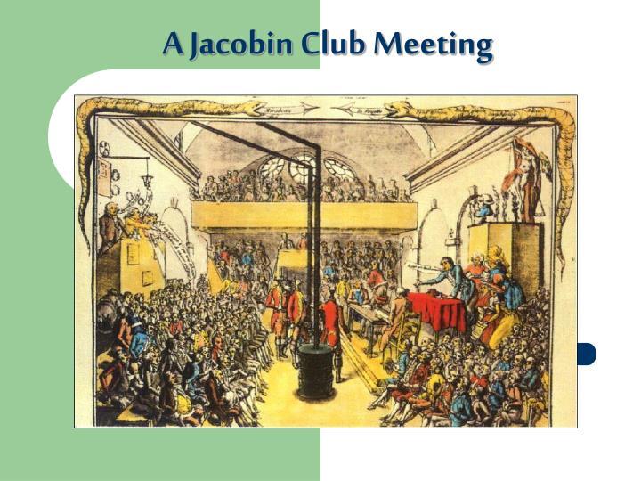 A Jacobin Club Meeting