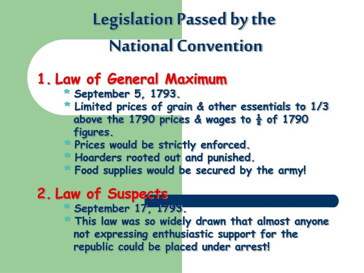 Legislation Passed by the