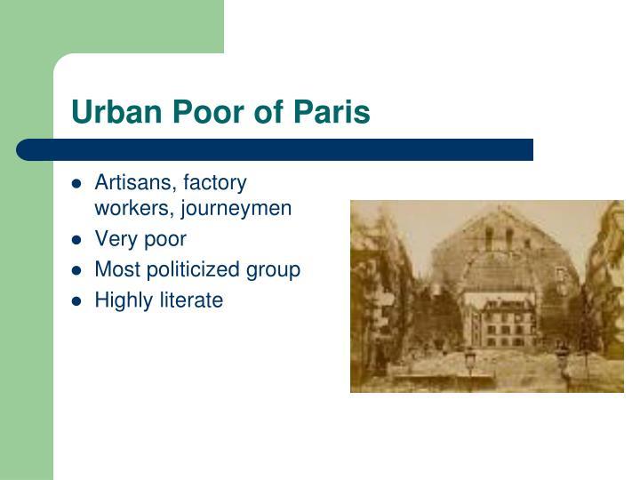 Urban Poor of Paris