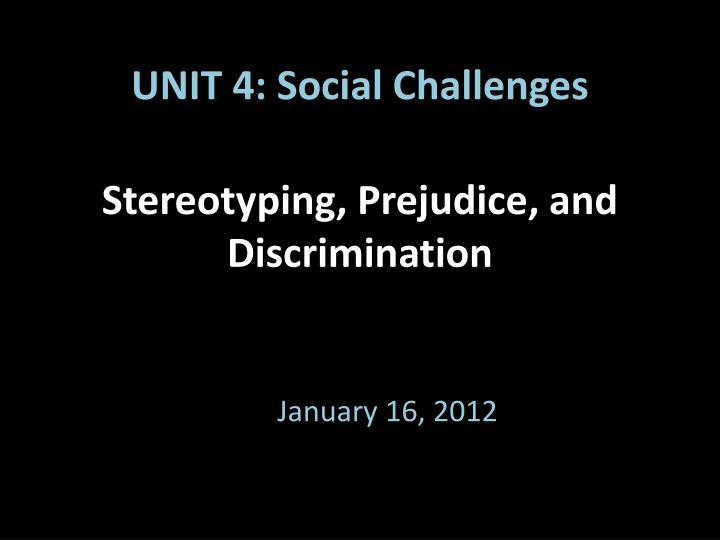 "social discrimination identity and stereotyping Stereotypes and ""gender identity protection from sex stereotyping discrimination in term ""gender identity"" is a meaningless social construct then."