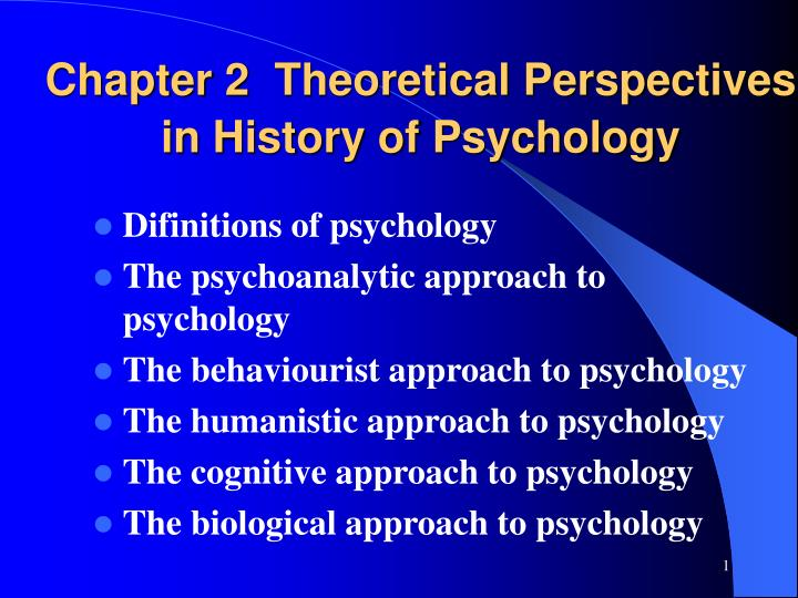 chapter 2 theoretical perspectives in history of psychology n.