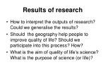 results of research