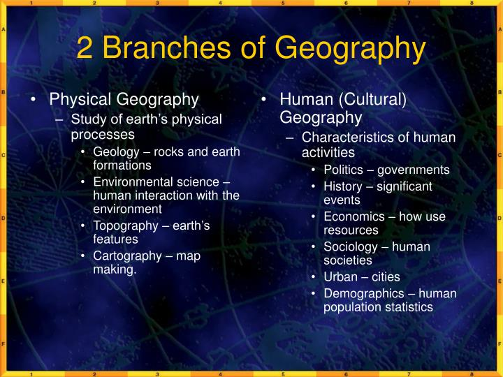 Relationship between sociology and geography