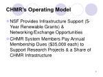 chmr s operating model
