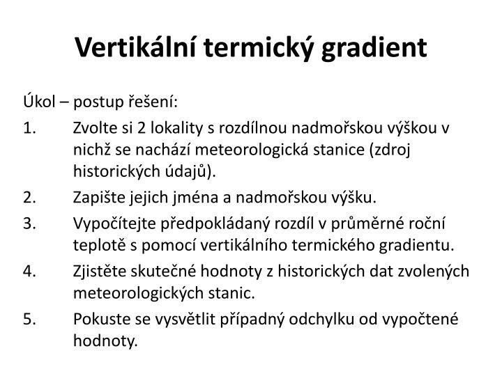 Vertikální termický gradient