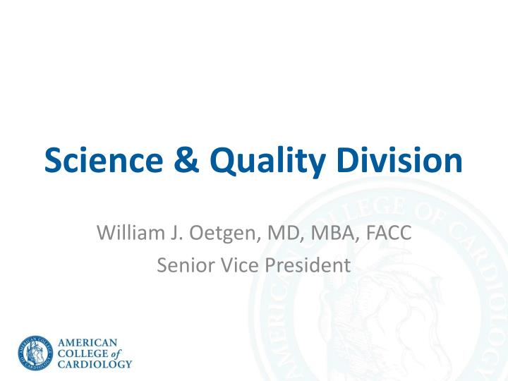 science quality division n.