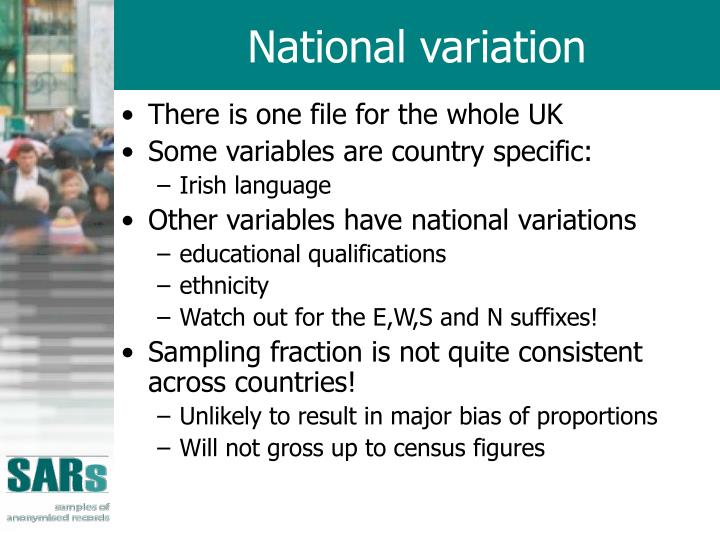 National variation