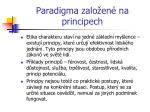 paradigma zalo en na principech