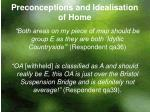 preconceptions and idealisation of home